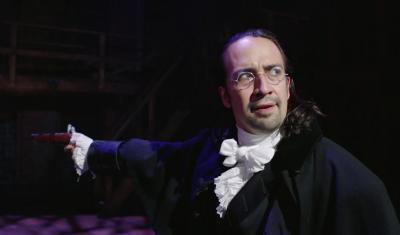 Lin-Manuel Miranda as Alexander Hamilton in Burr-Hamilton Duel