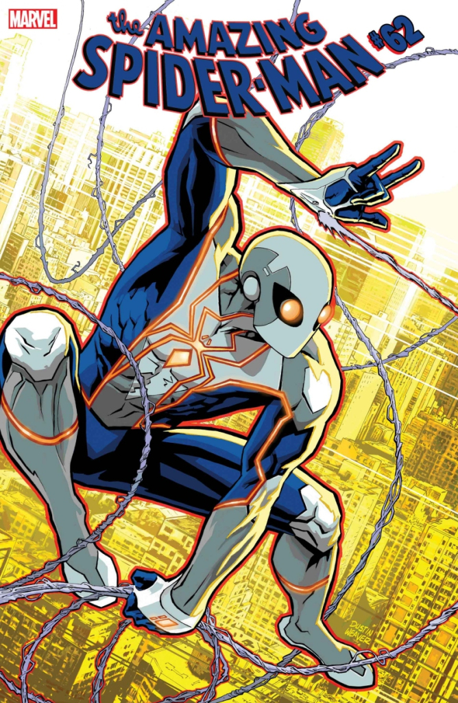 New Spider-Man costume on Amazing Spider-Man #63 cover