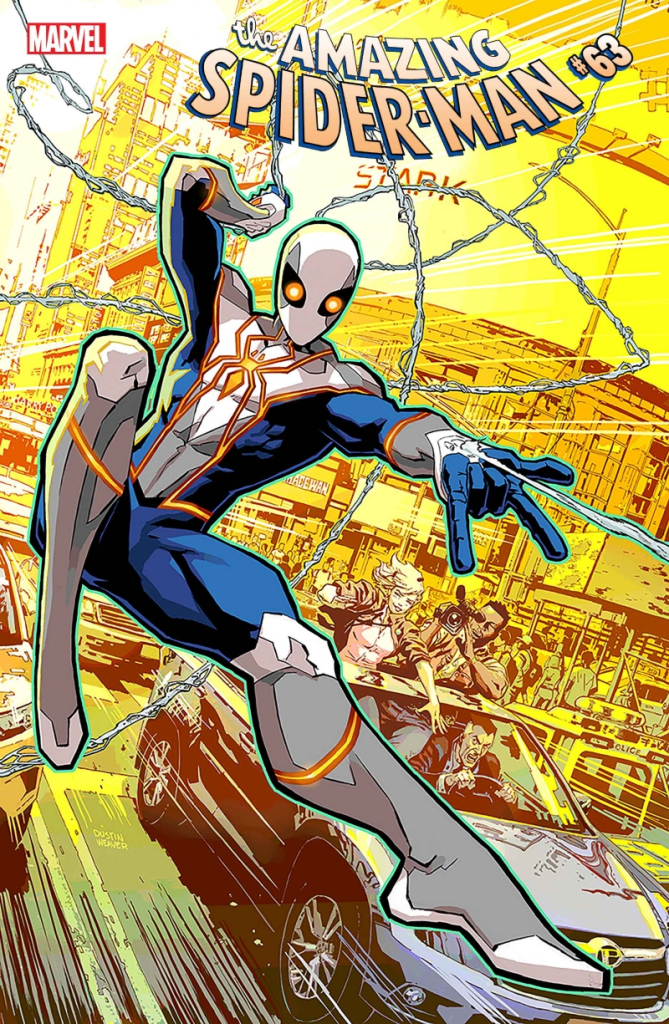 New Spider-Man costume on Amazing Spider-Man #63 variant cover