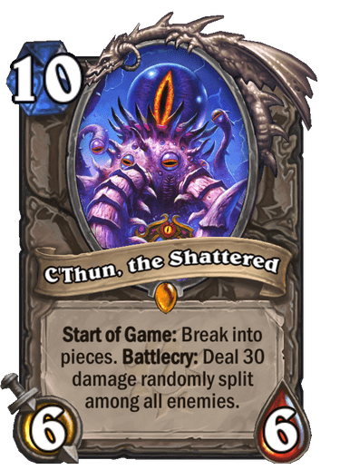 C'Thun, the Shattered card art Hearthstone