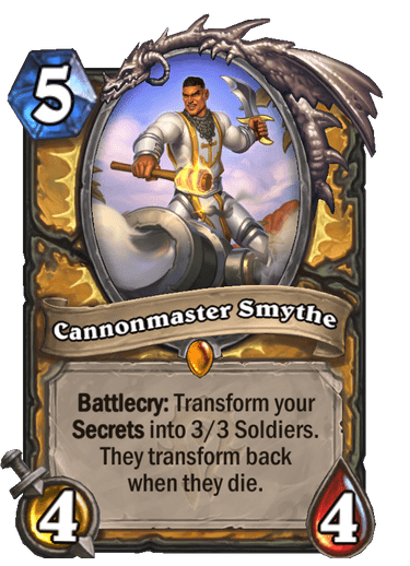Cannonmaster Smythe card art Hearthstone