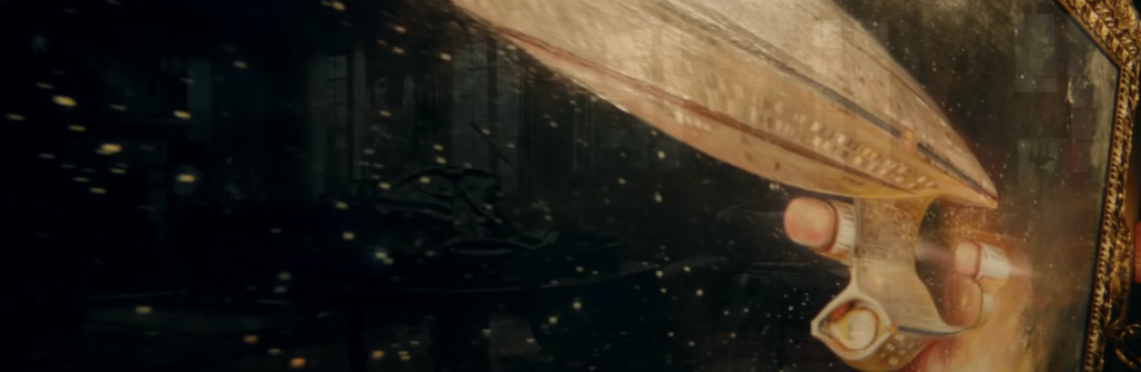 A painting of the Enterprise in the Picard Season 2 trailer