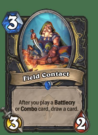 Field Contact card art Hearthstone