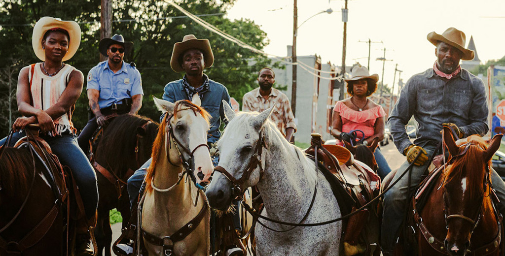 Idris Elba and the cast of Concrete Cowboy