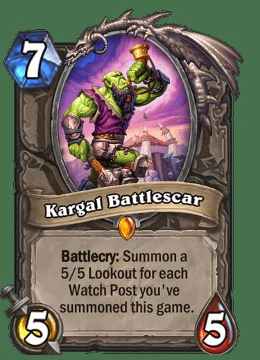 Kargal Battlescar card art Hearthstone