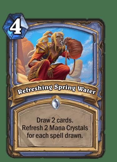 Refreshing Spring Water card art Hearthstone