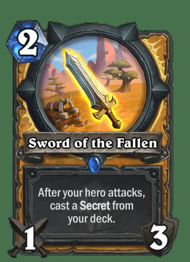 Sword of the Fallen card art Hearthstone