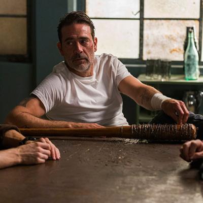 The Walking Dead: Austin Amelio, Jeffrey Dean Morgan and Jayson Warner Smith.