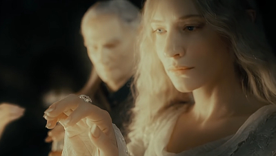Cate Blanchett as Galadriel in The Lord of the Rings: The Fellowship of the Ring