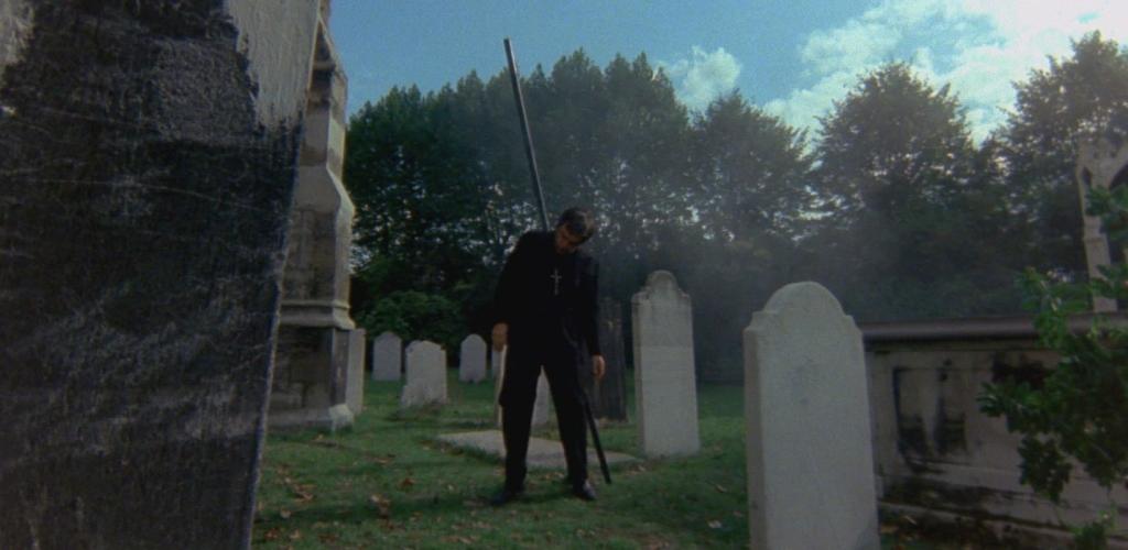 The Omen priest impalement